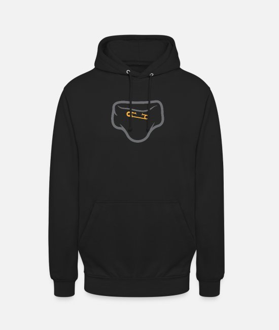 Shit Hoodies & Sweatshirts - Diaper With A Safety Pin - Unisex Hoodie black
