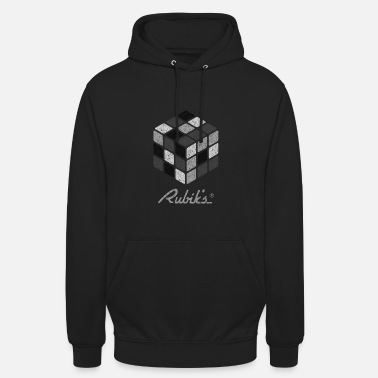 Black And White Collection Rubik's Cube Black-And-White Print - Unisex Hoodie