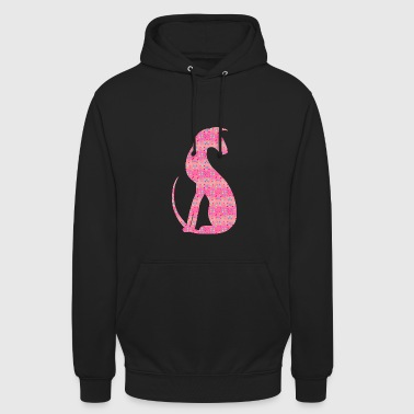 Silhouette rose - Sweat-shirt à capuche unisexe