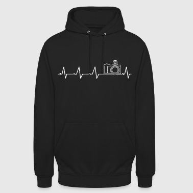 I love photography (heartbeat) - Unisex Hoodie