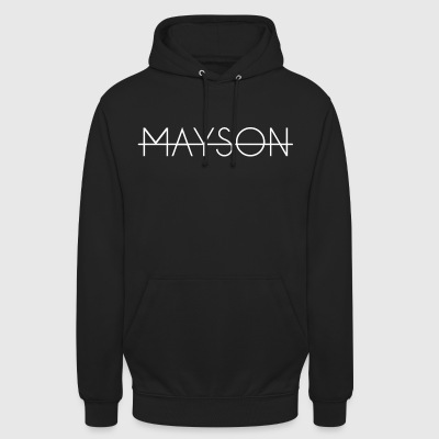 Mayson lettering white - Unisex Hoodie