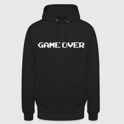 Game Over - Felpa con cappuccio unisex