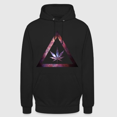 Galaxy Weed Cannabis Geometry Triangle - Unisex Hoodie