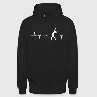 I love figure skating (heartbeat) - Unisex Hoodie