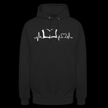 BOOK in my HEARTBEAT Shirt - Unisex Hoodie