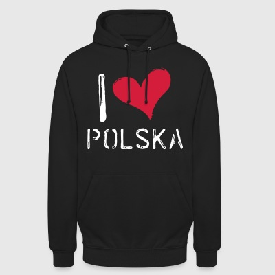 I love Polska - Sweat-shirt à capuche unisexe