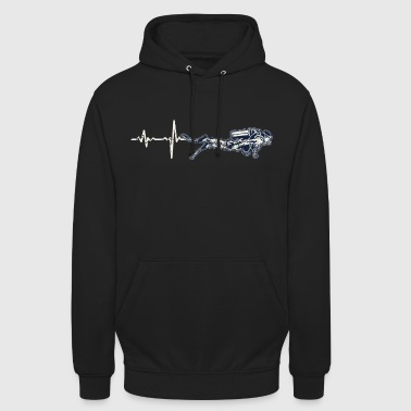 Gift Heartbeat Diving - Hoodie unisex