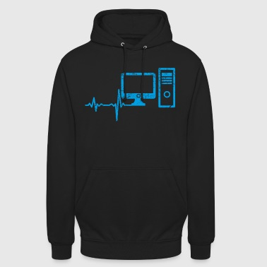 Gift Heartbeat Computer PC - Unisex Hoodie