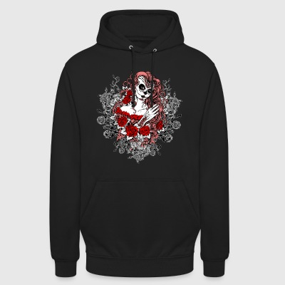 Santa Muerte Art Design Tattoo mort Mme Rosen - Sweat-shirt à capuche unisexe