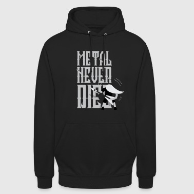 METAL NEVER DIES! (Festival-shirt) - Sweat-shirt à capuche unisexe