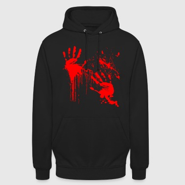 Barbouillé Thriller Horreur Sang Halloween Blood - Sweat-shirt à capuche unisexe