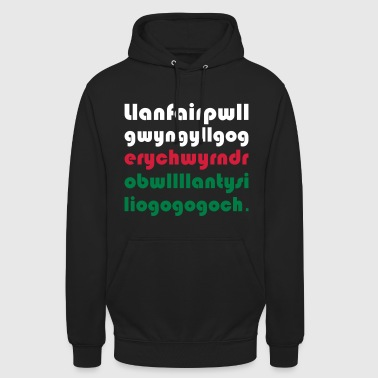 WALES / UK - VILLAGE WITH THE LONGEST NAME - Unisex Hoodie