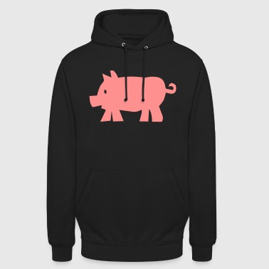 2541614 10643789 porc - Sweat-shirt à capuche unisexe