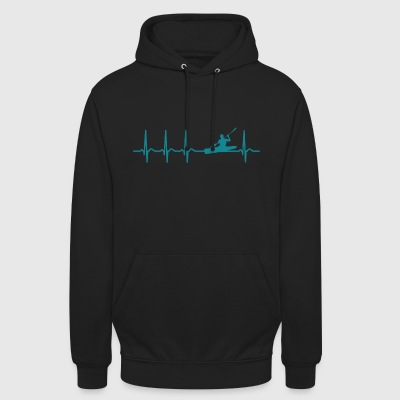 Heartbeat Canoe Kayak Club Canute Cool cadeau - Sweat-shirt à capuche unisexe