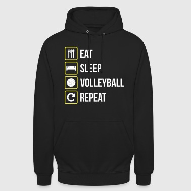 Eat Sleep Volleyball Repeat - Unisex Hoodie
