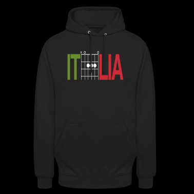Italy colours in guitar chords - Unisex Hoodie