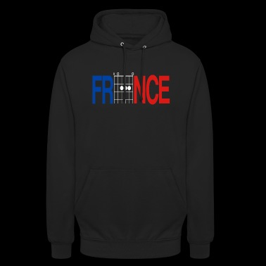 France Colours in Guitar Chords - Unisex Hoodie
