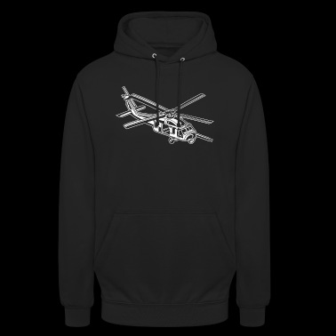 Helicopter / helicopter 01_white - Unisex Hoodie