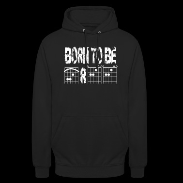 Born to be free in guitar chords - Unisex Hoodie