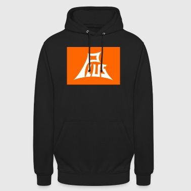 Plus orange white - Unisex Hoodie