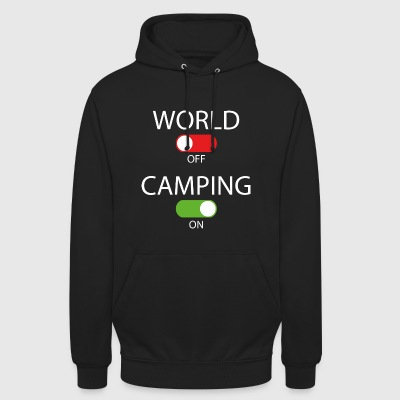 World off - Camping on - Unisex Hoodie