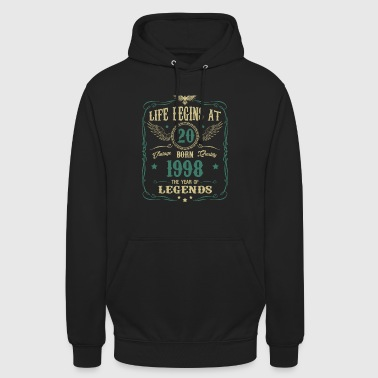 20th birthday gift - born in 1998 - Unisex Hoodie