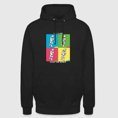 Troop Art - Stormtrooper at Pop Art Party - Unisex Hoodie