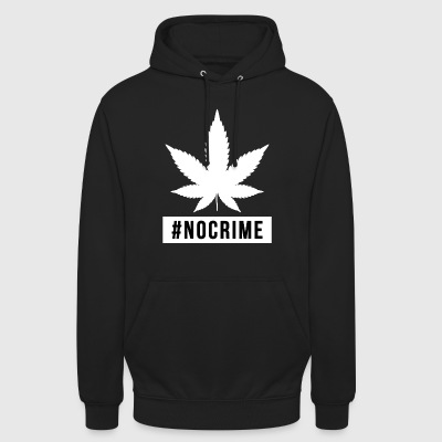 cadeau marijuana cannabis design pas de crime - Sweat-shirt à capuche unisexe