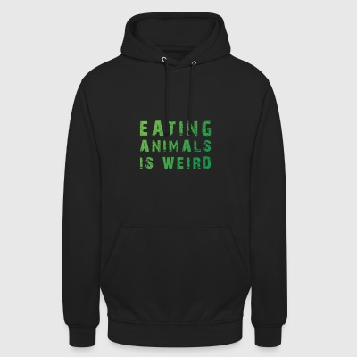 Eating Animals Is Weird T-Shirt Gift - Unisex Hoodie