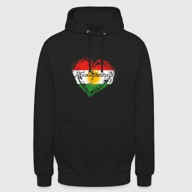 HOME COUNTRY ROOTS GIFT LOVE Kurdistan - Luvtröja unisex