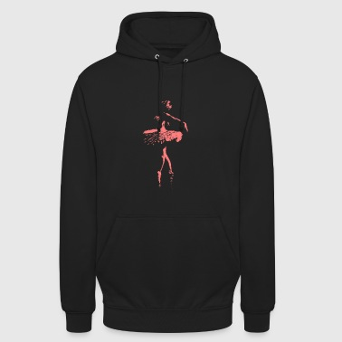 Ballerina rose - Sweat-shirt à capuche unisexe