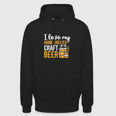 I Love My Craft Beer Beer homebrewed prezent - Bluza z kapturem typu unisex