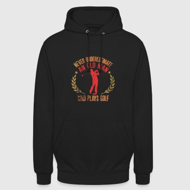 Never Underestimate An Old Man Who Plays GolfFunny - Unisex Hoodie