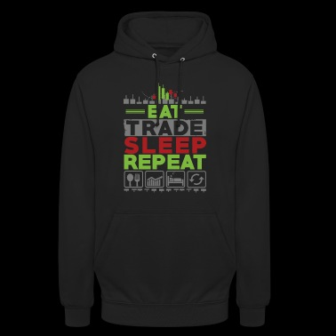 EAT SLEEP REPEAT TRADE - Bluza z kapturem typu unisex
