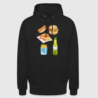 frites frites fast food presque food8 - Sweat-shirt à capuche unisexe