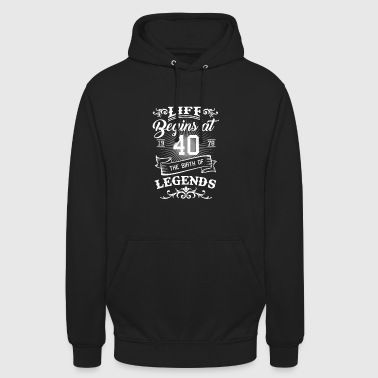 40th Birthday Gift - born in 1978 - Unisex Hoodie