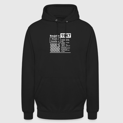 Year of construction 1947 - Unisex Hoodie