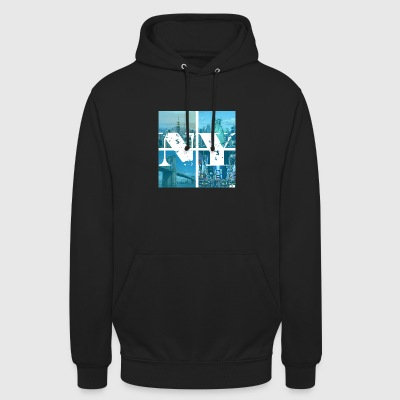 NEW YORK BLEU - Sweat-shirt à capuche unisexe
