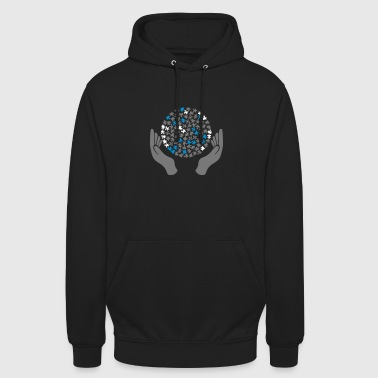 Hands with puzzle - Unisex Hoodie