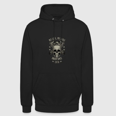Gift for Biker - built in 1970 - Unisex Hoodie