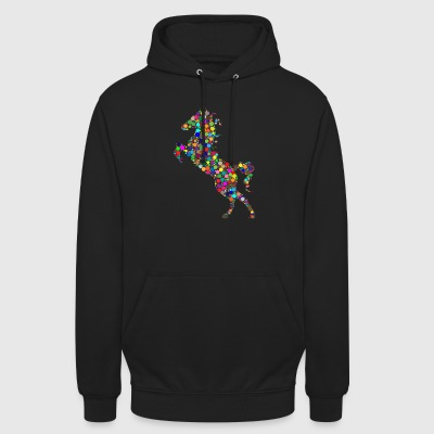 Colorful jumping horse - Unisex Hoodie