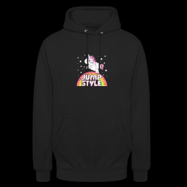 Cool Ironical Jumpstyle Music Unicorn - Unisex Hoodie