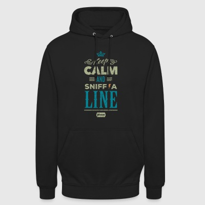 Keep calm and sniff a Line - vintage Drogen - Unisex Hoodie