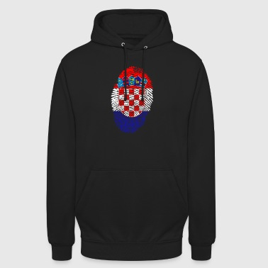 croatia ID - Sweat-shirt à capuche unisexe