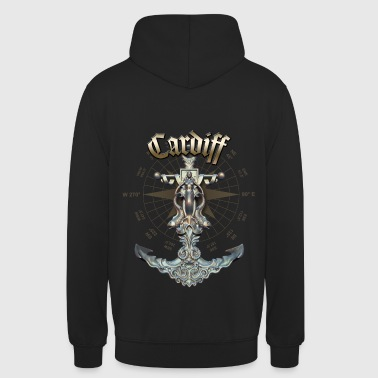 Cardiff Anchor Nautical Sailing Boat Summer - Unisex Hoodie