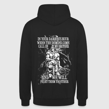 In your darkest hour call on me (light) - Unisex Hoodie