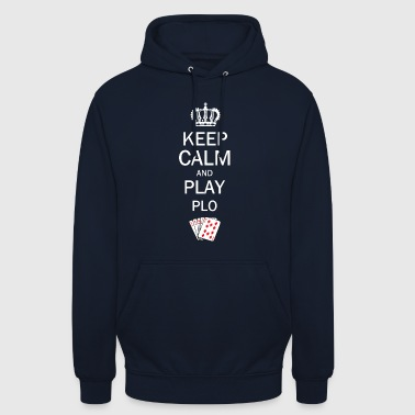 Keep Calm and Play PLO / Omaha Hold'em Poker - Unisex Hoodie