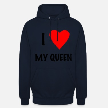 "I Love My Girlfriend I Love My Queen - Huppari ""unisex"""