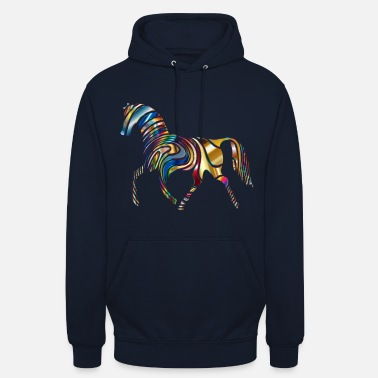 Children Horse - colorful through the world - Unisex Hoodie