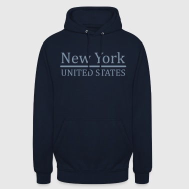 New-York - Sweat-shirt à capuche unisexe